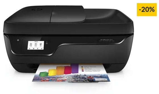 Impressora Multifunções HP OfficeJet 3833, preparada para HP Instant Ink