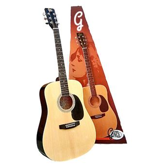 Pack Guitarra Acústica + Saco em Nylon Gemma