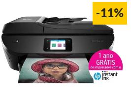Impressora Multifunções HP ENVY Photo 7830, elegível para HP Instant Ink