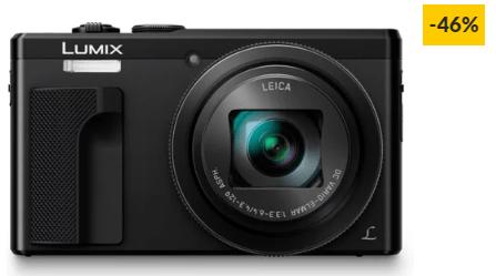 Máquina Fotográfica Compacta PANASONIC DMC-TZ80EG-K (Preto – 18 MP – ISO: 80 a 6400 – Zoom Ótico: 30x)