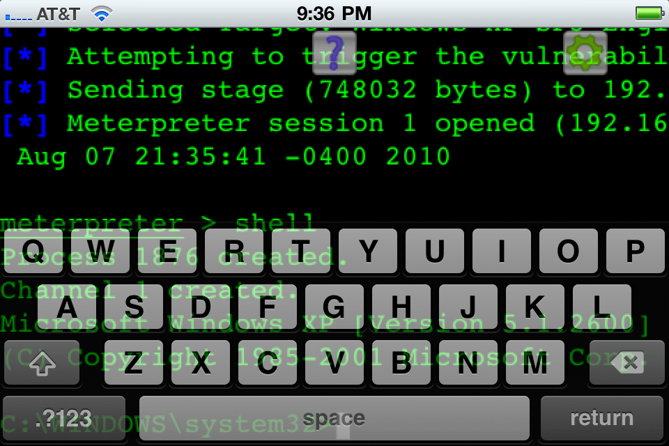 iphone4 msf 02 Metasploit 3.4 and SET 0.6.1 on iPhone 4