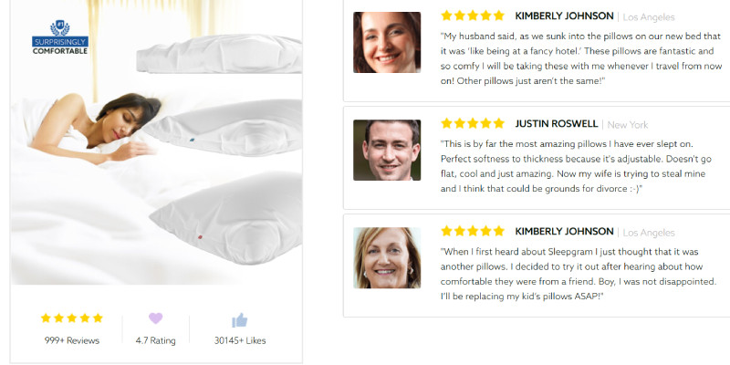 sleepgram pillow review for best