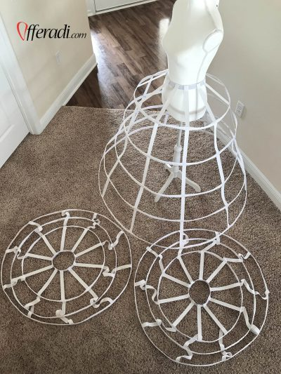 cage skirts lay flat on a floor