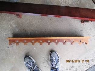 (2) WOOD WALL SHELVES !!!!!!!!!!!!!!!!!!!!!!! (GLENVILLE) $5