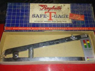 RAYBESTOS SAFE-T-GAGE MEASURES BRAKE LINING WEAR VINTAGE (Schenectady NY) $10
