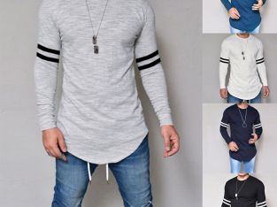 Fashion Men's Muscle Tee T-shirt Casual Tops Slim Fit O Neck Long Sleeve Blouse