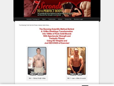 7 Seconds to A Perfect Body – The ULTIMATE Isometric Training Program