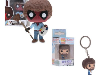 Funko Pop! Marvel Playtime Deadpool as Bob Ross Collectible Figure