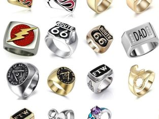 Fashion Vintage Men's Punnk style Cool Motorcycle Ring Biker Jewelry US 8/9/10