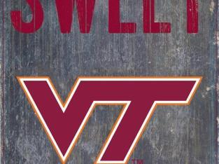 Virginia Tech VT Hokies Sign Home Sweet Home Wall Art