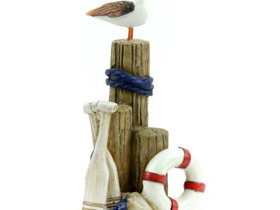 Miniature Dollhouse FAIRY GARDEN – Nautical Driftwood With Pelican – Accessories
