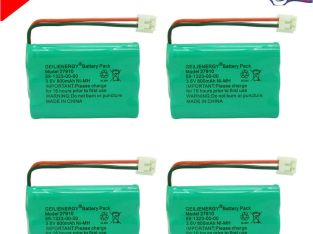 4x 800mAh Home Phone Battery for V-Tech 89-1323-00-00 8913230000 Model 27910 USA