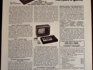 original 1979 vintage tech Ad Interact Home Computer