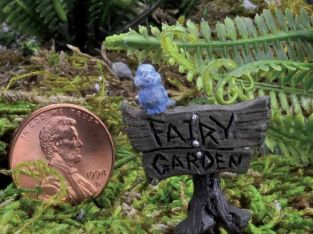 "Miniature Dollhouse FAIRY GARDEN – Micro Mini ""Fairy Garden"" Sign – Accessories"