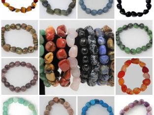 Tumbled Gemstone Bracelets: Stretchy – BUY 2 GET 1 FREE! Elegant Crystal Jewelry