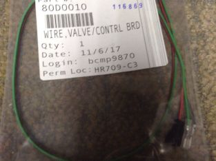 Fire place part. 80D0010 Wire Valve/Control SCS. BRD. Hearth & Home Tech