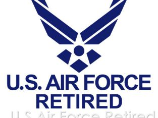 US AIR FORCE RETIRED USAF EMBLEM ARMY MILITARY VINYL DECAL STICKER (USAF-07)