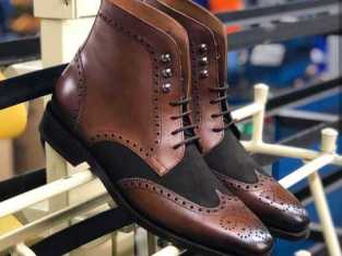 Men's bespoke ankle high boot for men's