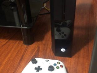 Xbox one with 2 controllers and charging dock