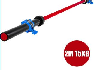 Barbell 35LB /15KG RED & BLACK