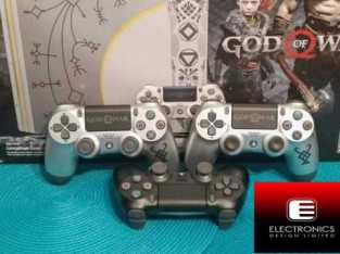 SONY PLAYSTATION PS 4 ( God Of War ) 4K 1TB  WITH 3 Pad AND CUSTOMIZED PS4 CONSOLE