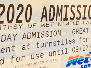 wet n wild 2020 admission tickets $10.00 each