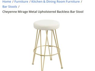 White and Gold Bar Stools