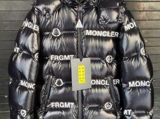 Moncler logo exploded bubble coat
