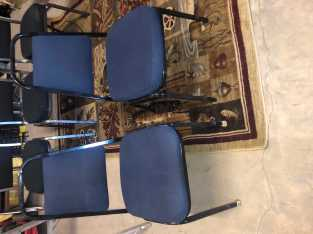 Set of 2, Navy Blue, cushioned office chairs