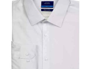 Burton White Slim Fit Easy Iron Shirt