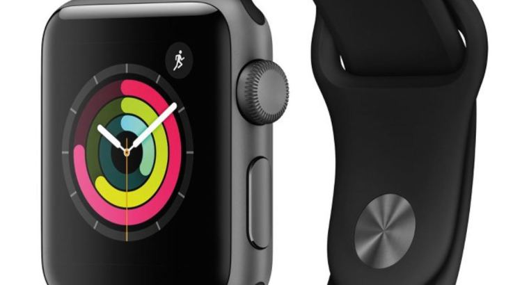 Apple Watch Series 3 GPS 38mm Space grey and Silver Aluminum case with sport band