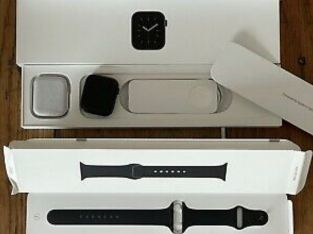 Apple Watch Series 6 44mm Space Gray Case Black Sport Band GPS + Cellular.
