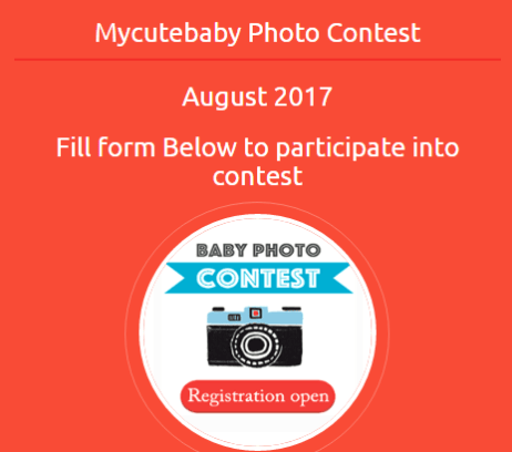 Cute Baby August Contest