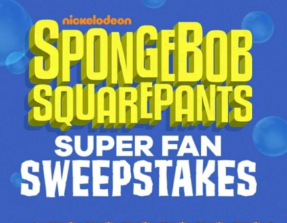 Spongebob Squarepants Superfan Sweepstakes