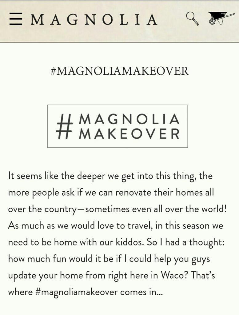 Magnolia market gift card