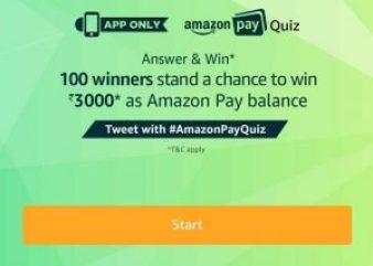 Amazon Pay Quiz Contest