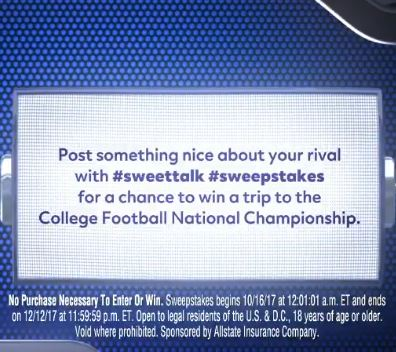 Allstate Sweet Talk Sweepstakes
