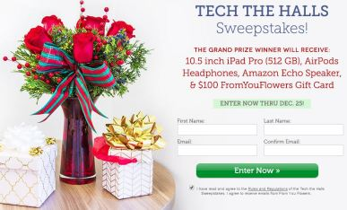 Tech The Halls Sweepstakes 2017