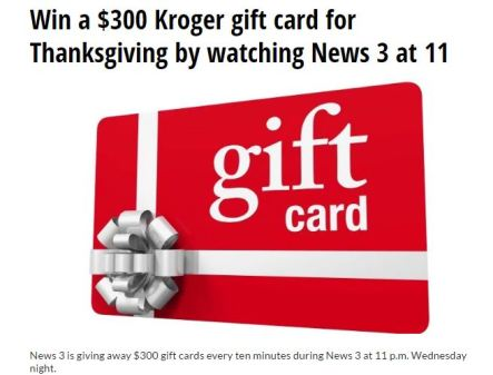 WTKR News 3 Thanksgiving Contest