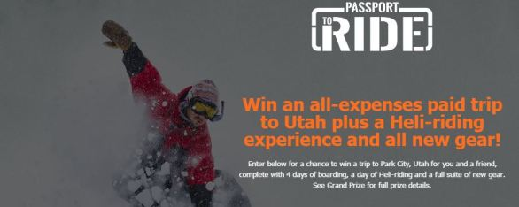 Passport to Ride Sweepstakes