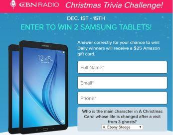 CBN Radio Christmas Trivia Challenge