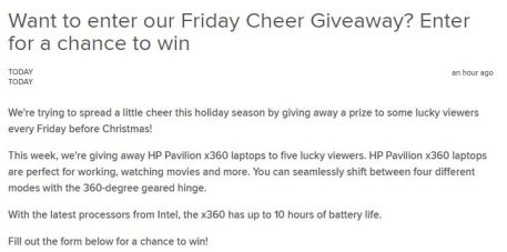 Today Show Friday Cheer Giveaway