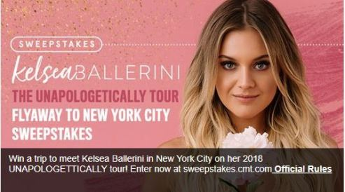 CMT Fly Away to New York City Sweepstakes