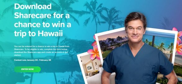 Dr Oz Sharecare Giveaway Sweepstakes