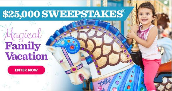 Parents Magical Family Vacation $25000 Sweepstakes