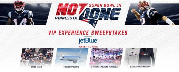 Patriots Super Bowl LII Sweepstakes