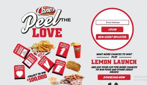 Raising Cane's Peel the Love
