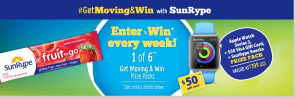 SunRype Get Moving & Win Sweepstakes