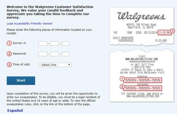 Walgreens Listens Customer Satisfaction Sweepstakes