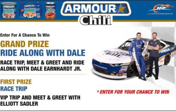 Armour-Ride-Along-With-Dale-Sweepstakes